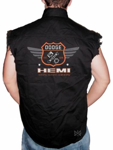 Dodge Garage Hemi Sleeveless Denim Shirt