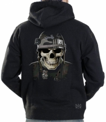 Military Skull Hoodie Sweat Shirt