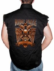 Ride Free Sleeveless Denim Shirt