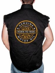 Genuine Motor Oil Sleeveless Denim Shirt