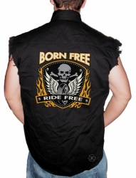 Born Free Sleeveless Denim Shirt