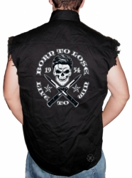 Born to Lose, Live to Win Sleeveless Denim Shirt