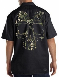 Special Ops Camo Skull Work Shirt