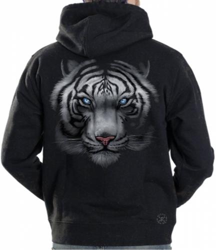 White Tiger Hoodie Sweat Shirt