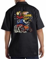 Yellow Monster Hot Rod Rat Work Shirt