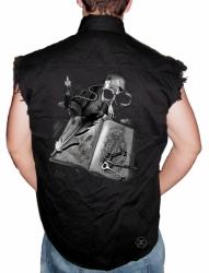 Journal Sleeveless Denim Shirt