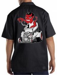 Red Devil Hot Rod Work Shirt