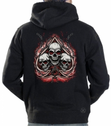 Spade with Three Skulls Hoodie Sweat Shirt