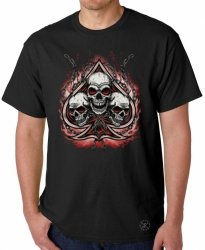 Spade with Three Skulls T-Shirt