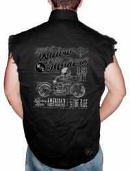 Widow Makers M/C Sleeveless Denim Shirt