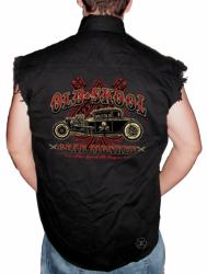 Old Skool Gear Monkey Sleeveless Denim Shirt