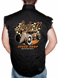 Lucky 11 Speed Shop Sleeveless Denim Shirt