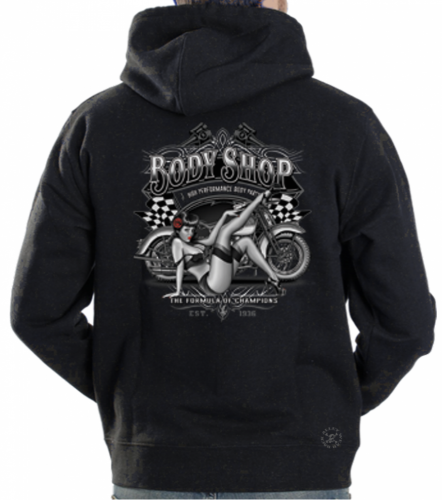 Body Shop Pinup Hoodie Sweat Shirt