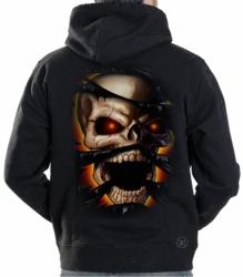 Skull Rip Hoodie Sweat Shirt