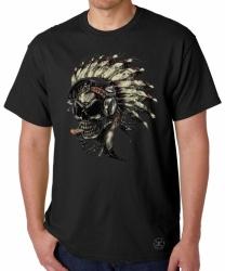 Indian Skull Headphones T-Shirt