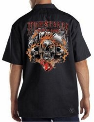High Stakes Skull Work Shirt