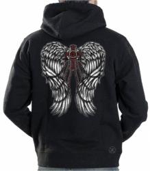Wings w/ Cross & Chains Hoodie Sweat Shirt