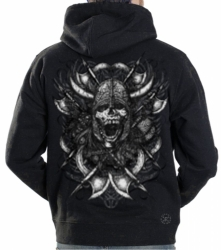 Viking Skull War Cry Hoodie Sweat Shirt