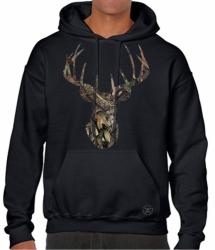 Break-Up Camo Deer Skull Hoodie Sweat Shirt
