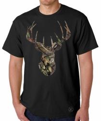 Break-Up Camo Deer Skull T-Shirt