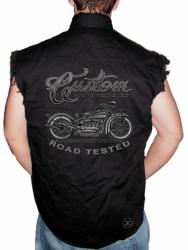 Custom Motorcycles Road Tested Sleeveless Denim Shirt