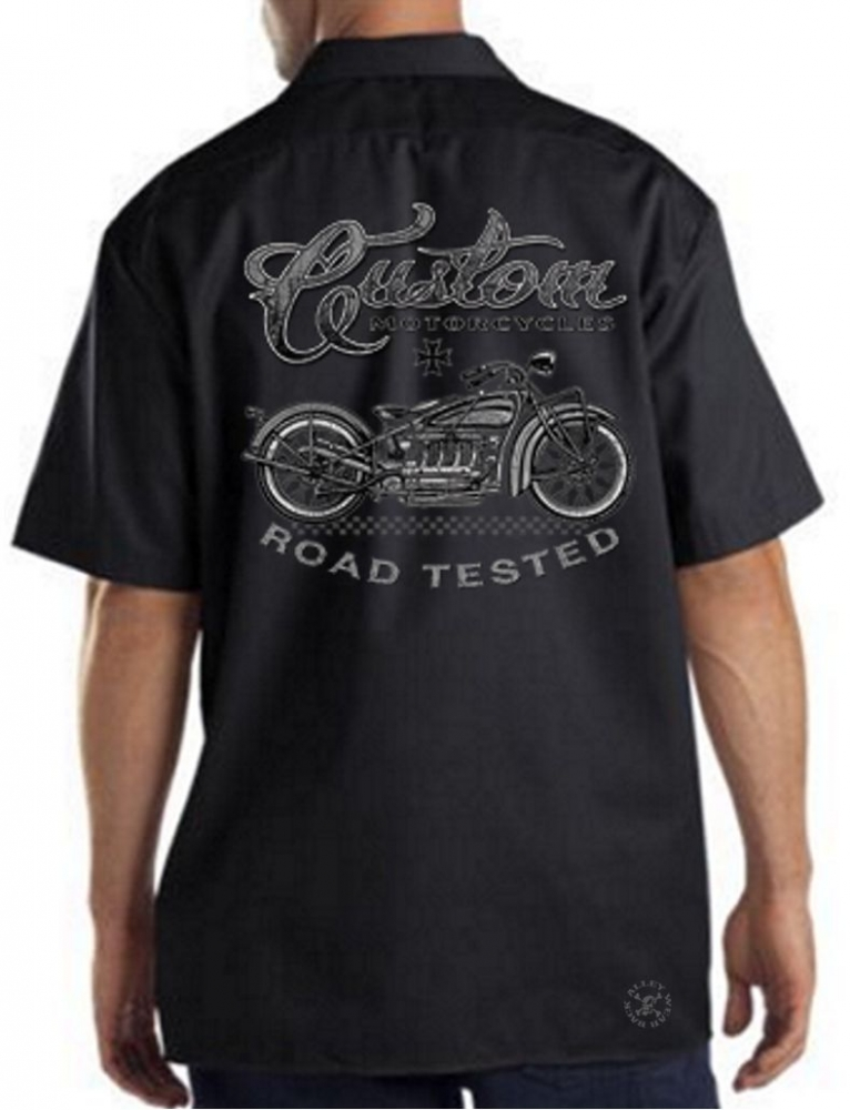 Custom Motorcycles Road Tested Work Shirt   Back Alley Wear