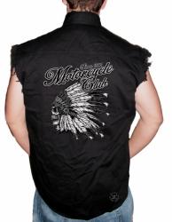Motorcycle Club Sleeveless Denim Shirt
