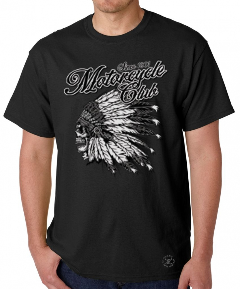 Motorcycle club t shirt back alley wear for T shirts for clubs