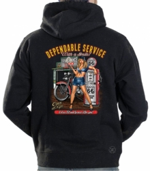 Dependable Service w/ a Smile Hoodie Sweat Shirt