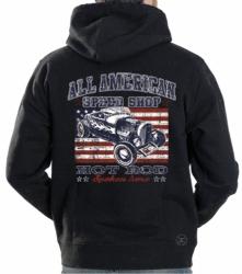 All American Speed Shop Hoodie Sweat Shirt