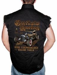 Outlaw Racing Sleeveless Denim Shirt