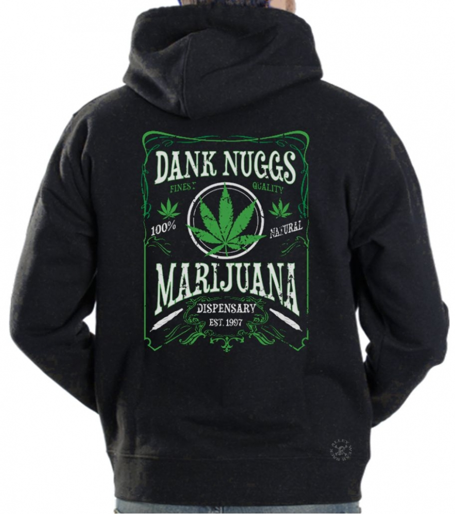 Dank nuggs hoodie sweat shirt back alley wear for How to not sweat through dress shirts