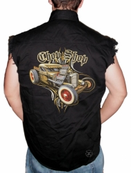 Chop Shop Sleeveless Denim Shirt