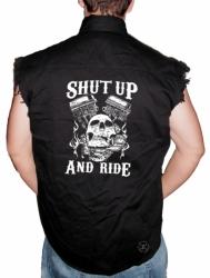 Shut Up & Ride Sleeveless Denim Shirt