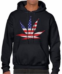 American Pot Leaf Hoodie Sweat Shirt