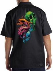 Distorted Skulls Work Shirt