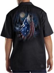 Howling Wolf Americana Work Shirt