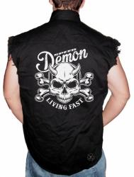 Speed Demon Living Fast Sleeveless Denim Shirt