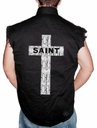 Saint Sleeveless Denim Shirt
